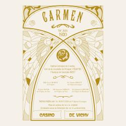 Transfert à sec - Opera Carmen